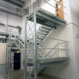 Bespoke Steel Staircases for Industrial Use