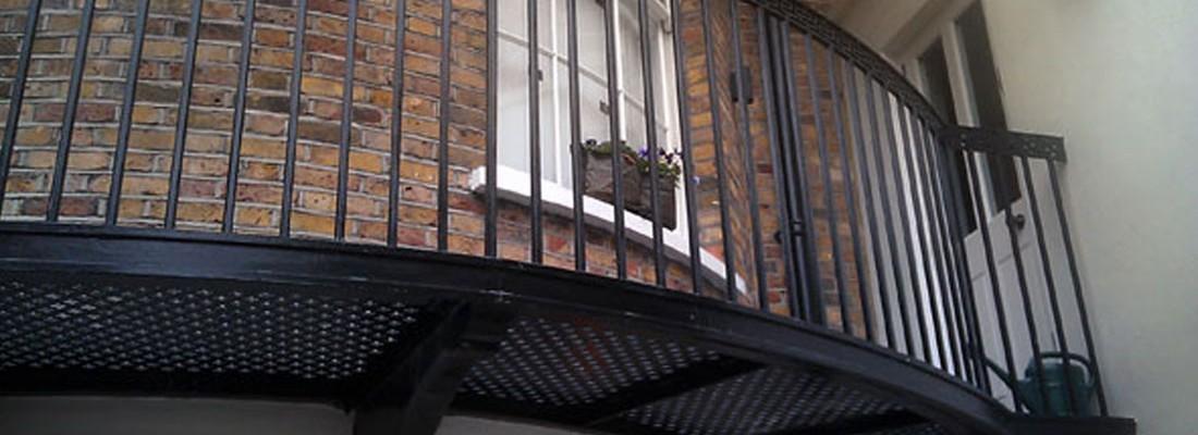 Bespoke steel balconies